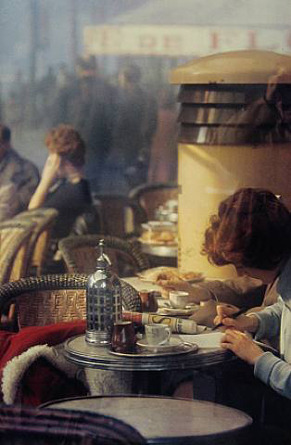 thenewmanhattanite:  Café in Paris, 1959. By Saul Leiter.