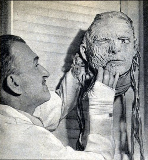 rcmerchant:  Jack Pierce and the mummy mask.