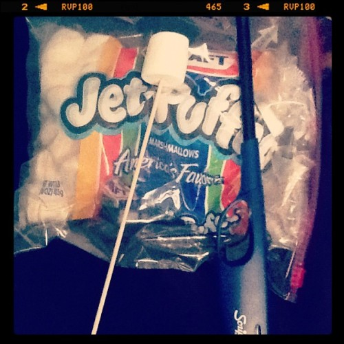 Roasting marshmallows like a champion  (Taken with instagram)