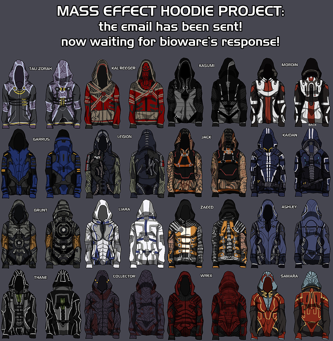 sourcedumal:  casecous:    SO those Thane, Wrex, Samara and Kasumi ones would get worn the fuck out. So serious.