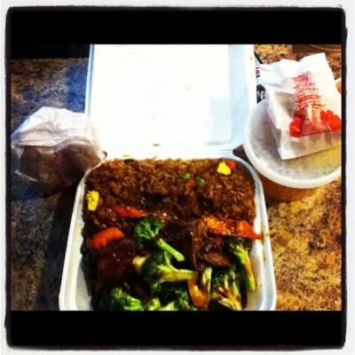 Beef & broccoli,pork fried rice,egg roles,wonton soup #dinner time (Taken with instagram)