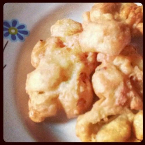 #tofu #egg #tahu #telur #fried #goreng #food #cook #snack (Taken with instagram)