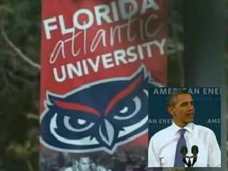 "ep1102:  Florida Atlantic University is hurriedly planning one of its biggest events ever: a visit Tuesday from President Barack Obama. The president is scheduled to speak at 2:55 p.m. in FAU Arena. He'll make the case for the ""Buffett Rule"" a tax proposal the White House says would bring fairness between what millionaires and the middle class pay in taxes.  Students, faculty and staff at FAU will be able to enter into an online lottery to get tickets for his appearance, but it will be closed to the general public.    ""The university e-mailed some of us about being volunteer leaders, which would be helping to coordinate and hopefully work behind the scenes and possibly meet him,"" Rosendorf said. It's the president's first visit to campus, and it promises to be FAU's most anticipated event since 2008, when the university hosted a Republican presidential debate. That event brought Sen. John McCain, former Gov. Mitt Romney, former Mayor Rudy Giuliani and other Republican candidates at the time, as well as hundreds of media. But the university had months to plan the debate. FAU received final word about Obama's visit on Thursday. ""It came completely out of nowhere,"" Rosendorf said. ""But it's exciting. Our main goal has been to get Barack Obama to come to FAU."" FAU is working with the White House and Secret Service to plan logistics. Classes will go on as scheduled, and the ones normally held in the arena will be moved to another location, FAU spokeswoman Lisa Metcalf said. FAU was picked to host a Democratic primary debate in 2008 which would have brought Obama on campus while he was still a candidate. But the Democrats signed a pledge not to campaign in Florida that year to penalize the state for its decision to hold early primaries. Many FAU students at the time were disappointed since they and students at many other college campuses voted overwhelmingly Democrat in the 2008 presidential election. Obama is scheduled to appear at another Boca Raton college on Oct. 22. That's when Lynn University hosts the final presidential debate between Obama and the Republican nominee for president. Experts say Florida is once again expected to have a major influence on who wins the presidential election this year. It's the fourth largest state and will award 29 of the 270 electoral votes needed to win the presidency. While Texas is certain to go Republican and California and New York are seen as safe for the Democrats, Florida could go either way, said Charles Zelden, a professor of history and legal studies at Nova Southeastern University. Even though the speech centers on tax issues that might not be the hottest topic for college students, Rosendorf said it still makes sense that Obama is giving the speech on a college campus. ""I think he knows how important the vote is from college students, especially in a swing state,"" she said. http://www.sun-sentinel.com/news/palm-beach/fl-fau-obama-plans-20120407,0,963496.story"