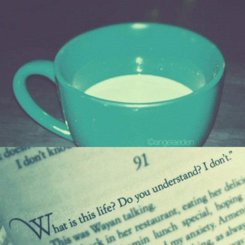 { Happy Easter } A cup of matcha green tea and a book to curl up with (do you know which book it is?). #Easter #Sunday #morning #tea #book (Taken with instagram)