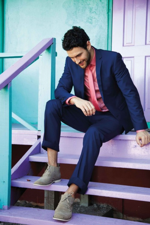 Love the look for Summer 2012 except for the matching tie.