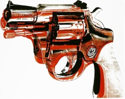 """Gun""….1981-82 By: Andy Warhol"