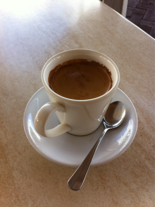 Long black, Il Postino, Alstonville. Via Rob Mezz.