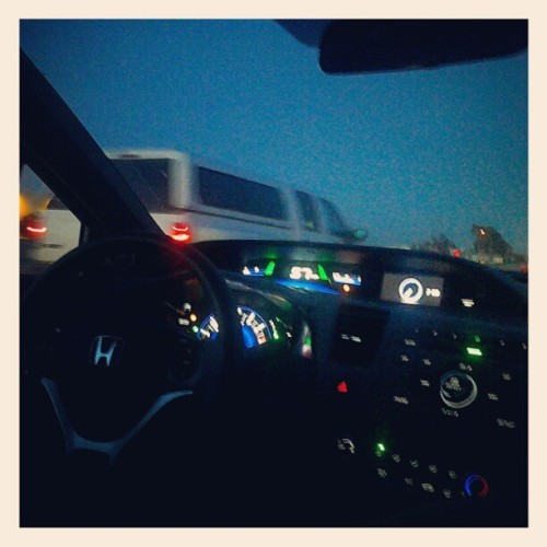 I want my uncle's honda car #instagramforandroid #honda #car #light #street #night  (Taken with instagram)