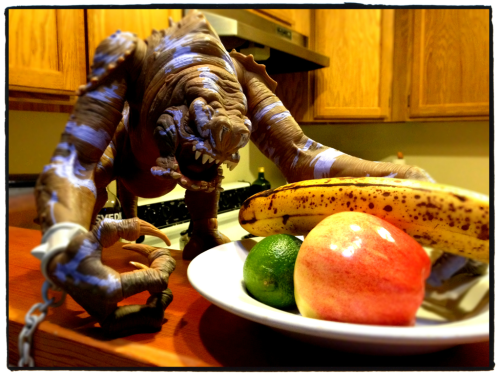 dbsw:  Kitchen Rancor does not approve of the browning banana!