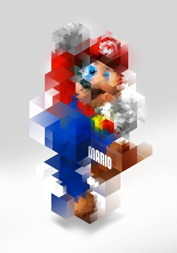 Triangulation: Super Mario by Nicola Felasquez Felaco  Tribute to the videogame legend charachter.  (by Nicola Felasquez Felaco)