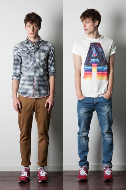 mensfashionworld:  Bershka Boys February 2012  digging the t-shirt as well as the NB