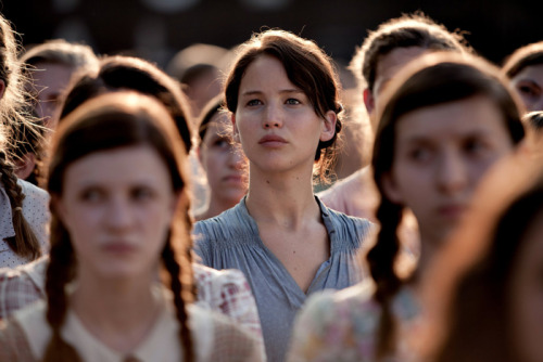 Jennifer Lawrence as Katniss Everdeen in The Hunger Games by Gary Ross