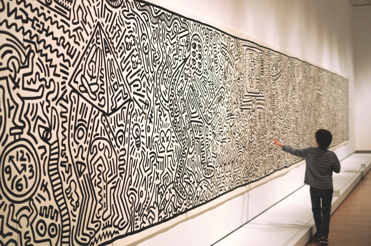 Keith Haring at the Brooklyn Museum.