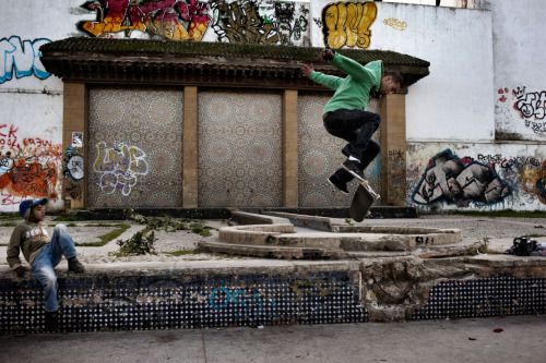 Skateboarding in Casablanca. (via The New Islamists: Photographs by Yuri Kozyrev - LightBox)
