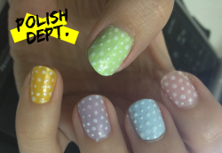 pre-easter nails!Tomorrow I'll post the final ones! :)
