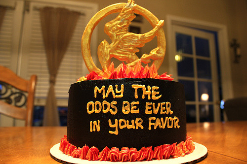 Hunger Games Quote Cake!
