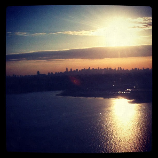 Fling into LGA at sunset