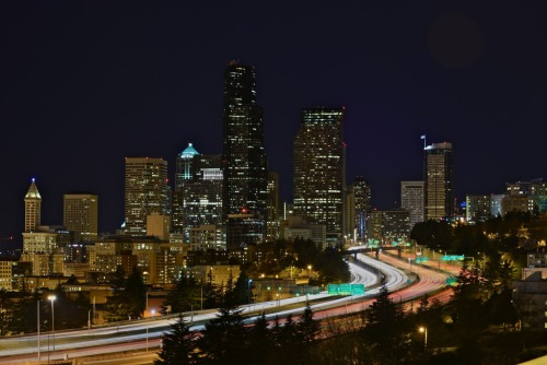 Sleepless in downtown Seattle.