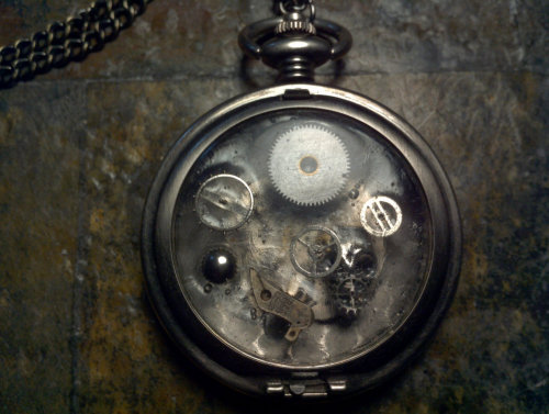 The Whisperer in the Darkness - Steampunk Pocket Watch Necklace Jewelry skull by TheThingOnUrDoorstep