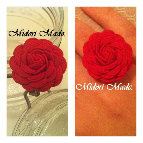 New Rosette ring!  I'm so happy with how it came out :) Don't forget to check out Facebook and The Store!Also follow on Twitter (@_midorimade) and Instagram (@midorimade)