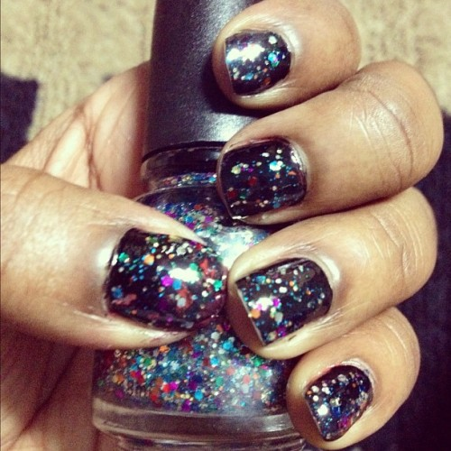 #glitter #nails #nailart #chic #beauty #me #design #sweet #black #galaxy #inspired #hands #instadaily #instahub #instapop #instagood #dope #style #fashion #girly #edgy #fun #dark (Taken with instagram)
