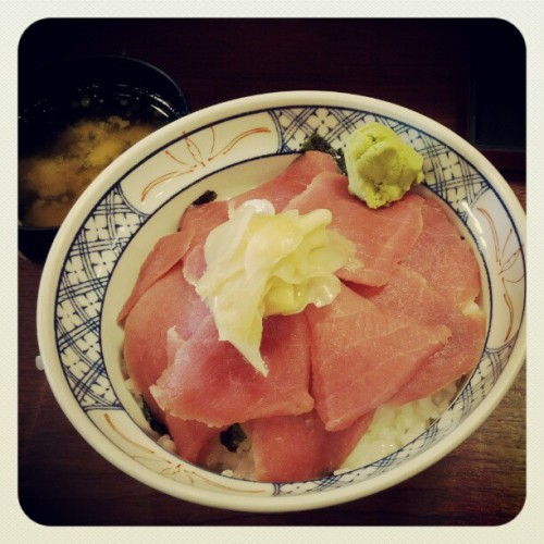 First meal of the day #tekkadon (Taken with Instagram at Gyunoya)