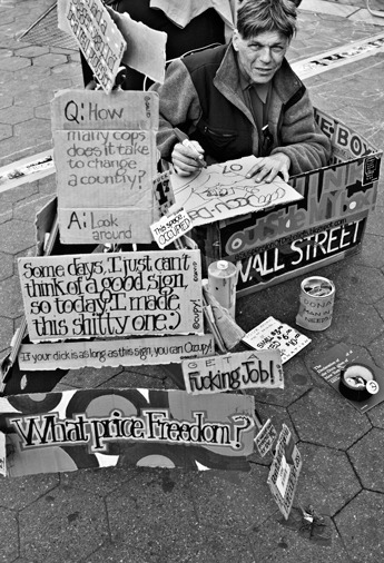 Occupy Wall Street , Manhattan 2012