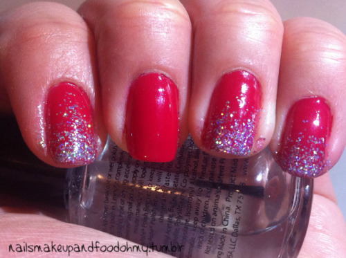 Rosey Glitter I used Essie's Long Stem Roses as the BG and LA Colors for the glitter gradient
