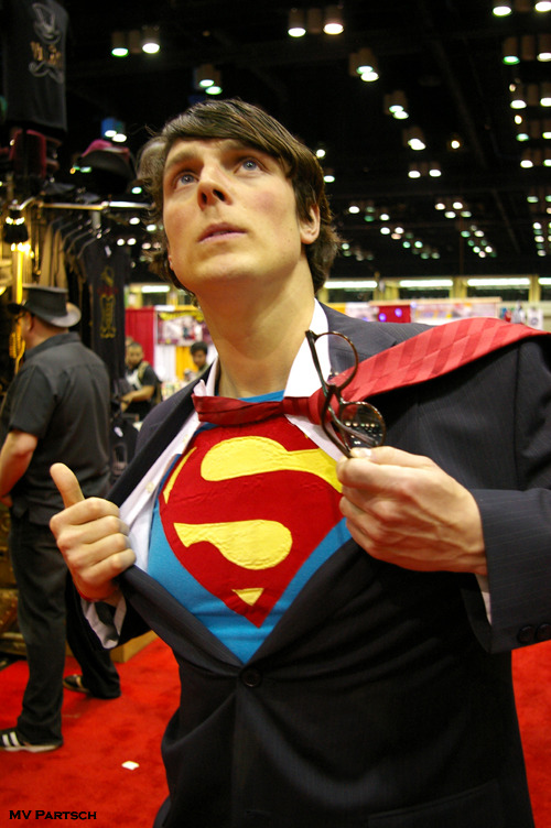 "Mild-Mannered Reporter.  MegaCon. Orlando. 2011. Exhibit Hall. Cosplay by the Extraordinary Alexander Rae. ~ (An American Comicon ""My computer has a tummy-ache"" Encore Pic!!)"