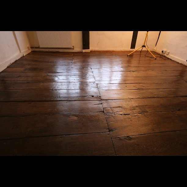 17th century oak floor after  (Taken with instagram)