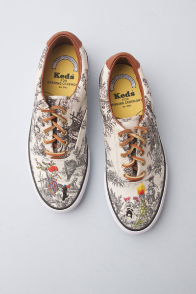 Richard Saja Keds for Opening Ceremony [this combines my three principal interests in 1992: keds, decorating my keds, and cross-stitch.]