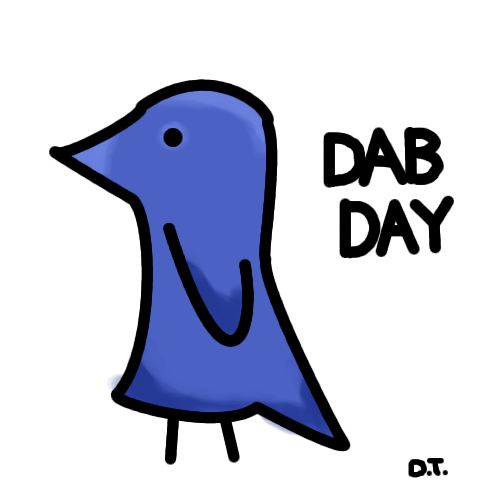 Draw A Bird Day started in the UK in the late 1940s. All you have to do is draw a bird and share it with people. It's simply about spreading joy - the pictures need not be any good (as you can see from my attempt.)