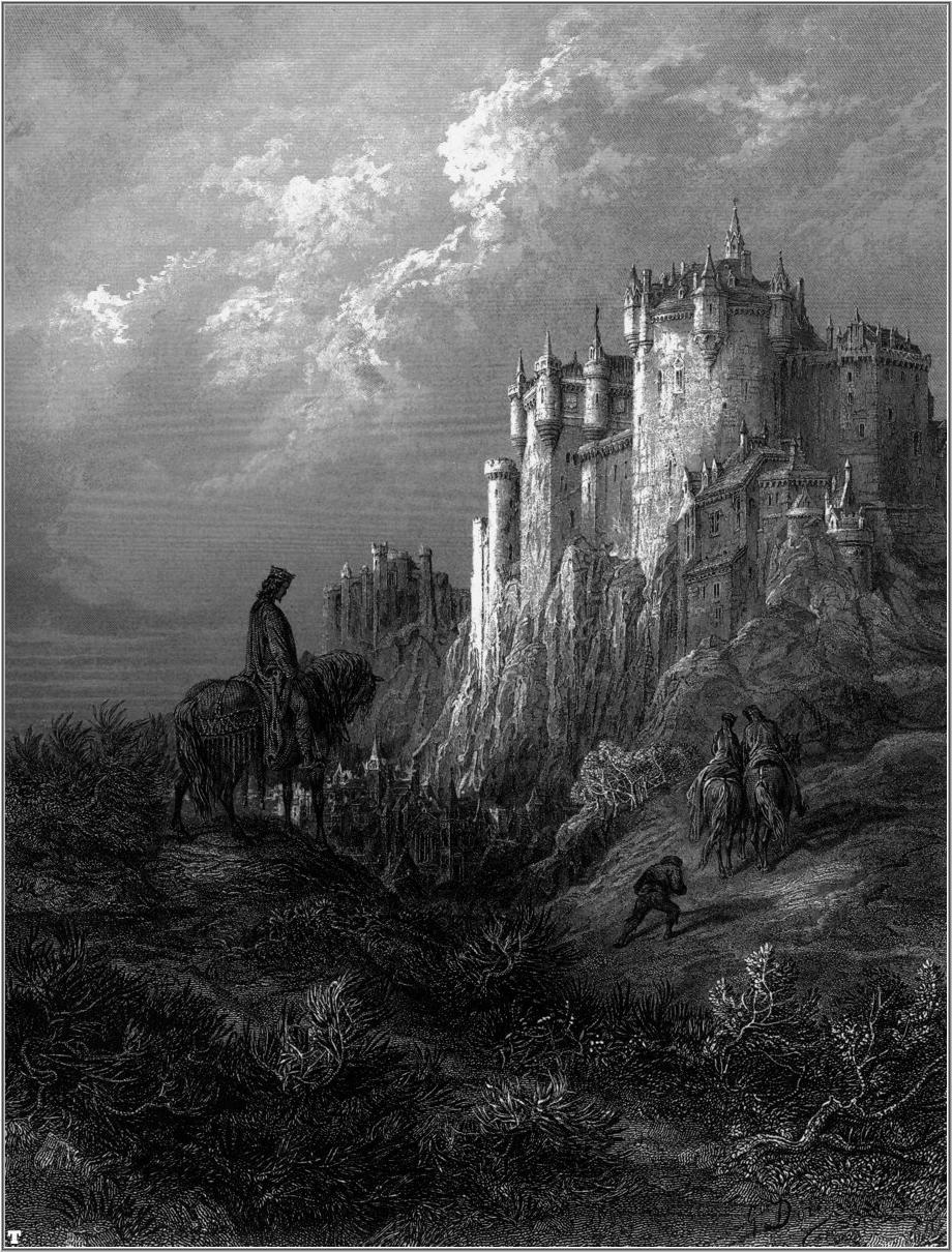 Gustav Doré's illustration of Camelot. Dimmu Borgir's For All Tid artwork inspiration.