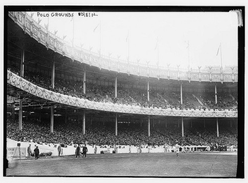 oldnyc:  [1st game - 1912 World Series at the Polo Grounds, New York (baseball)] (LOC) by The Library of Congress on Flickr. 1st game - 1912 World Series at the Polo Grounds, New York