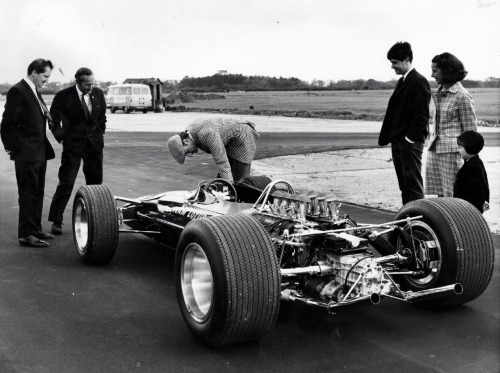 Lotus 49 (1967) Chapman provides the family test drive.