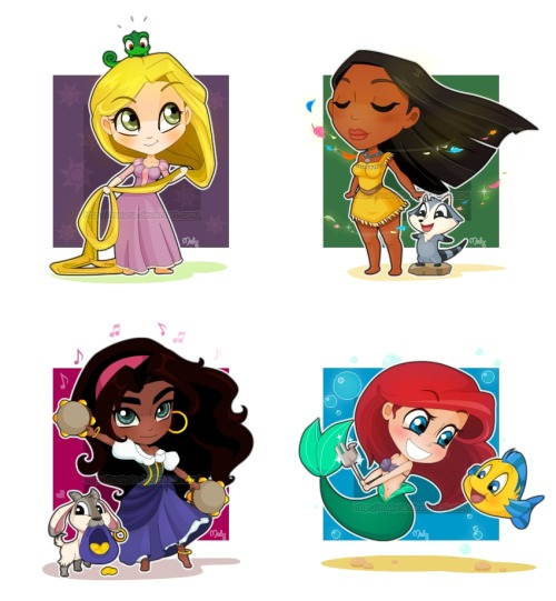 Chibi Disney Girls by ~Malycia