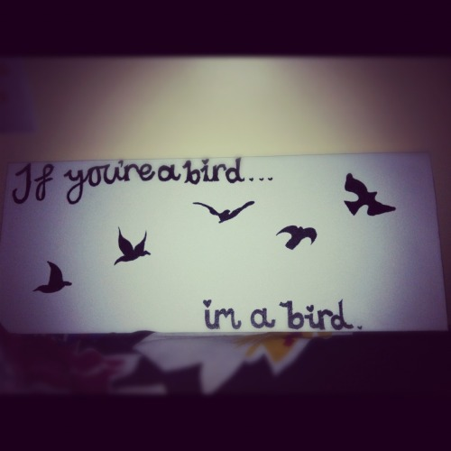If your a bird, i'm a bird