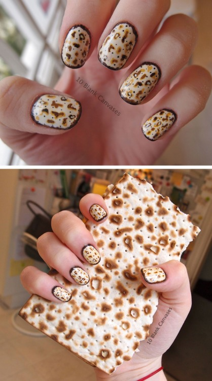10blankcanvases:  Passover nails! Happy Passover! Also - Happy Easter! :-)  I BOW DOWN TO THIS AS THE BEST NAIL ART EVER