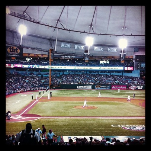 Game 2: Rays v. Yankees (Taken with instagram)