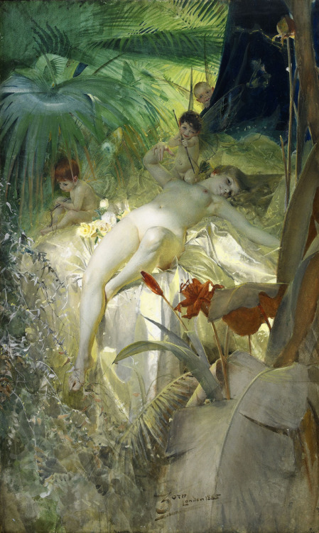 blueruins:  The Love Nymph (1885) by Anders Zorn