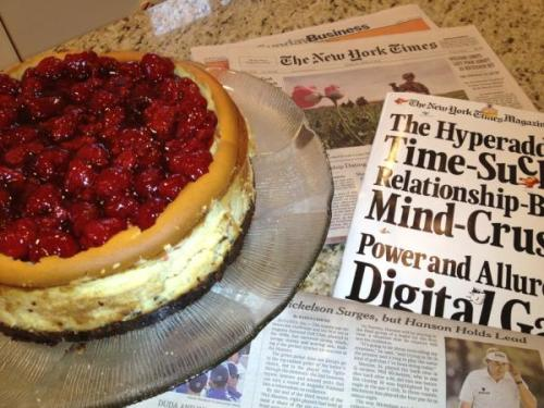 Passover brunch cheesecake NY Times #weekender edition. —@wassermanwealth