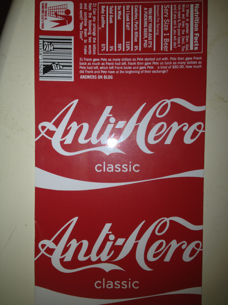 Anti hero x coke