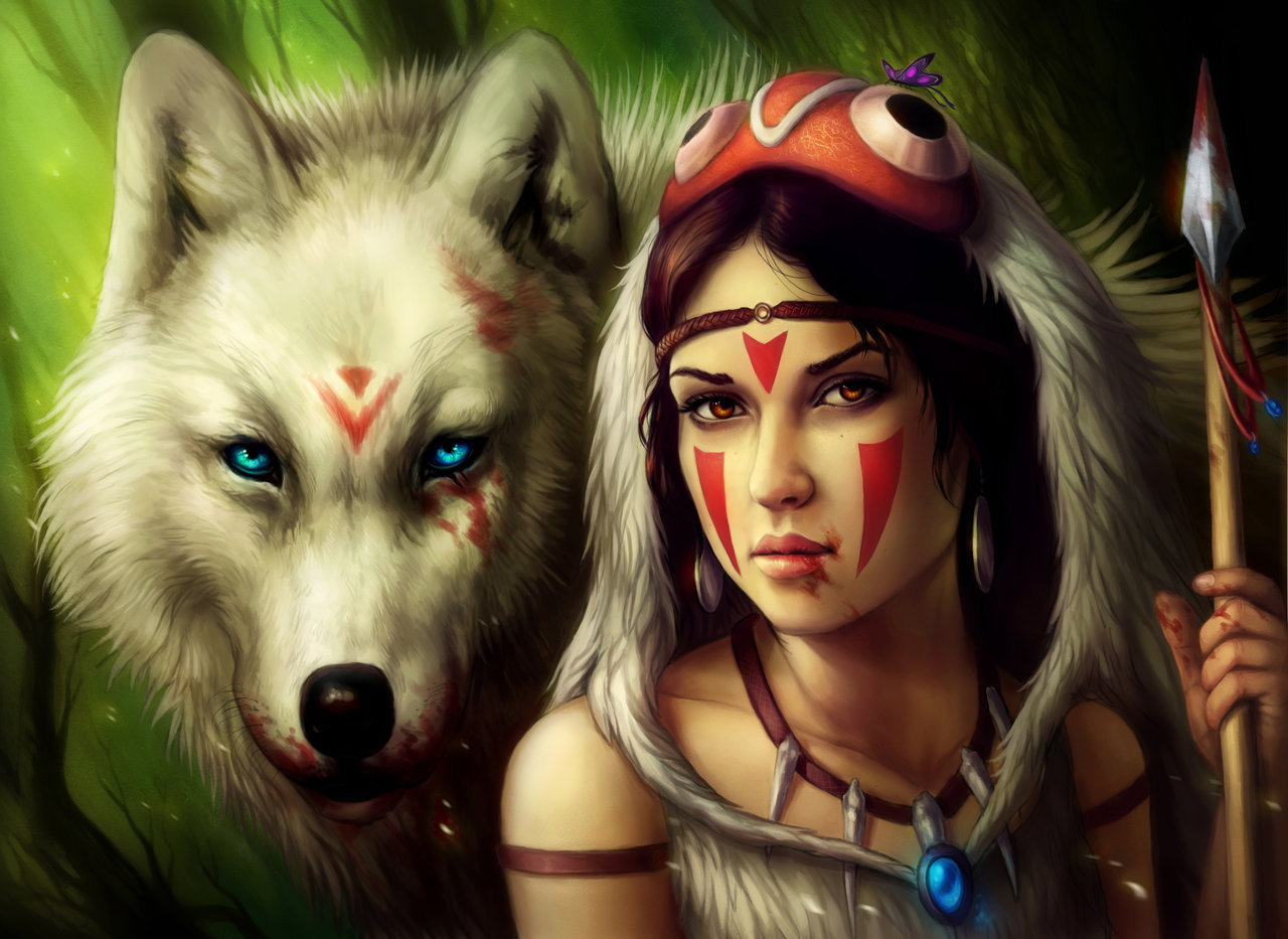 Princess Mononoke by =sanguisGelidus