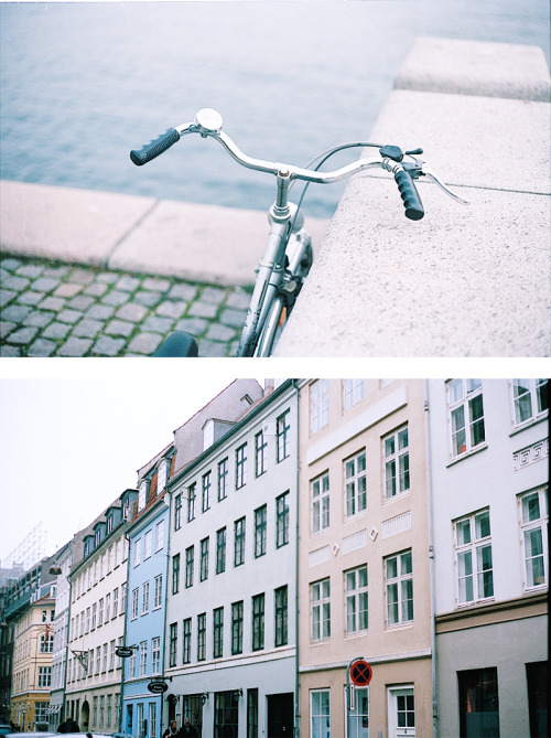 sophietakespictures:  Angela's bike + some pastel street of Copenhaguen