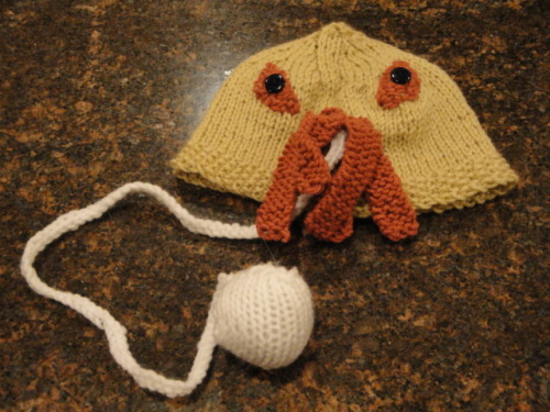 Knitted Ood Hat (submitted by moopaloop)