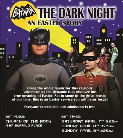 So, how does the average American fuckwit observe Easter Sunday?  With Batman, of course…