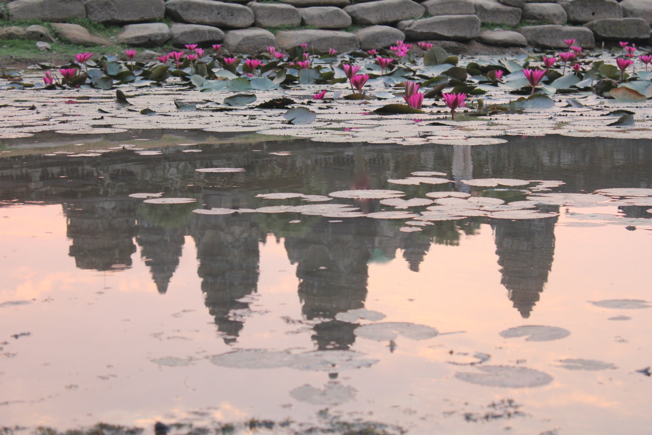 Angkor Wat's reflection