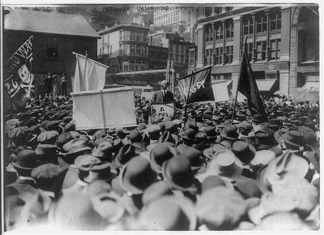 maydaynyc:  Alexander Berkman speaking in union square on may day