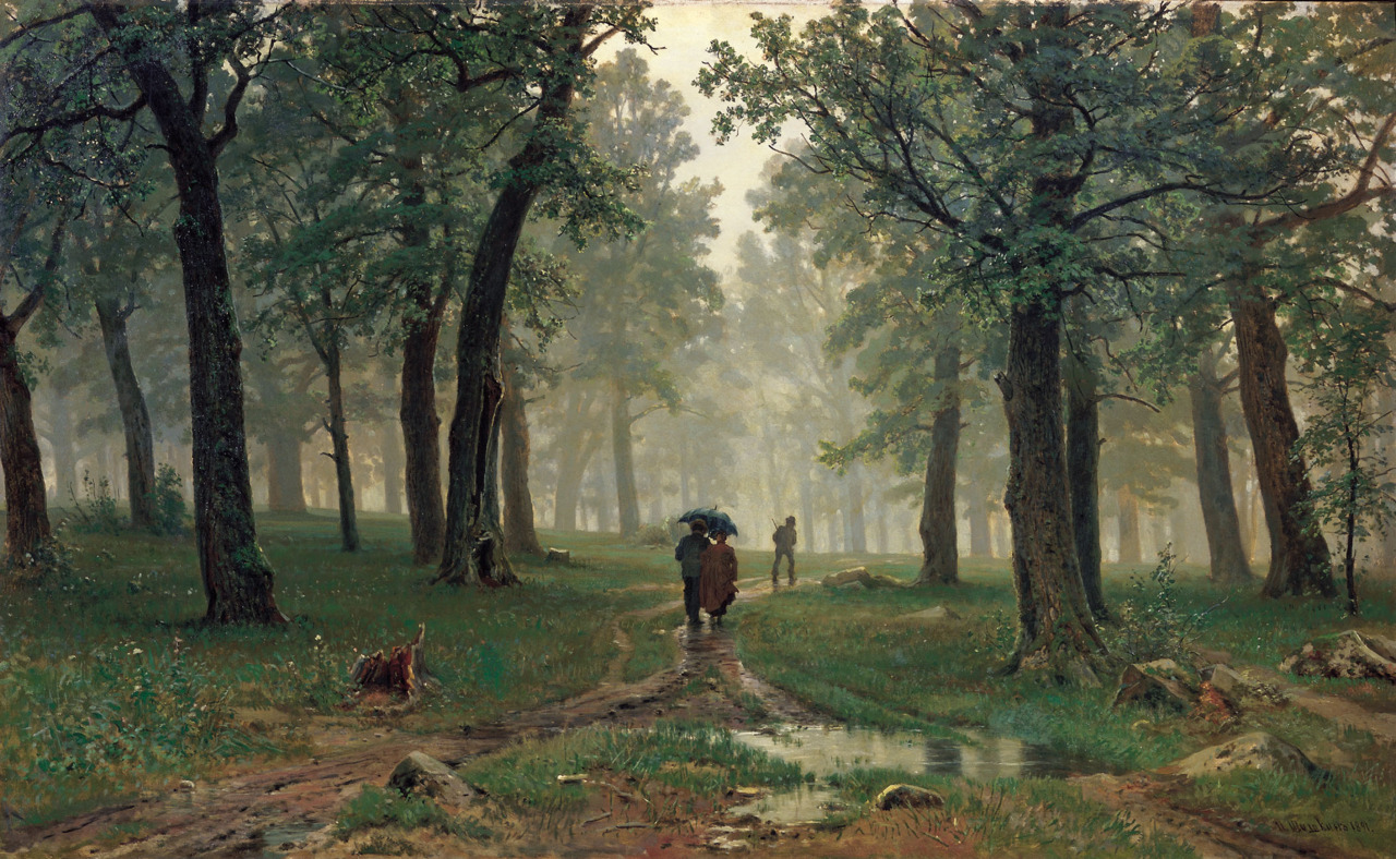 artandopinion:  Rain in the Oak Forest 1891 Ivan Shishkin