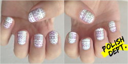 Aztec meets Easter nails!  Happy day! ;)
